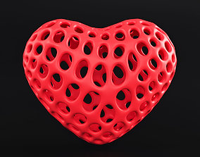 3D print model Heart Symbol Wireframe