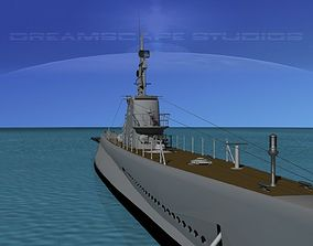 3D model Submarine SS-212 USS Gato