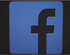 3D asset facebook logo 02