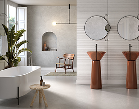 Modern Bathroom Scene 3D model corona