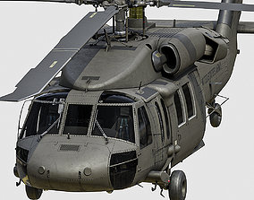 UH 60 black hawk helicopter 3D asset