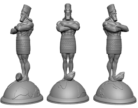 Daniel statue with stone Globe base - 3D print and keyed