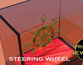 Printable steering wheel pendant nautical