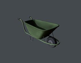 Wheel Barrow 3D asset low-poly