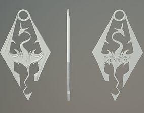 3D printable model Skyrim Logo Pendant