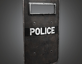 3D model Police SWAT Shield BHE - PBR Game Ready