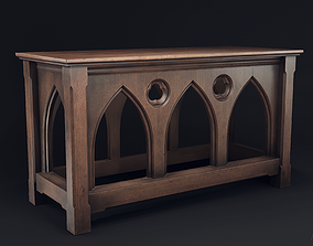 Gothic Serving Table 3D asset