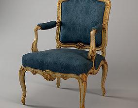 Classic Armchair Louis XV Beech 3D model
