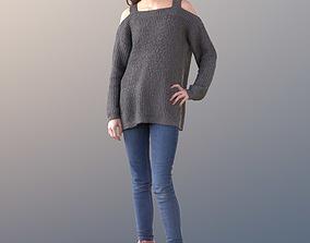 Lisa 10727 - Standing Teenager 3D asset