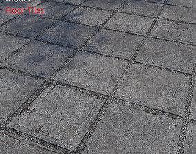 Floor Tiles 3D model brick