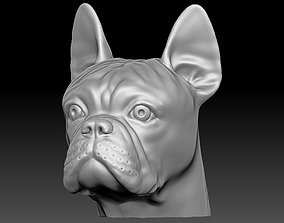 French Bulldog head for 3D printing