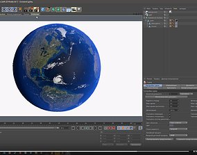 3D model game-ready Realistic Earth