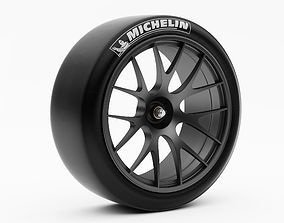 Wheel Racing BBS with Slik Tire 3D