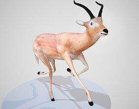3D model Impala Rigged