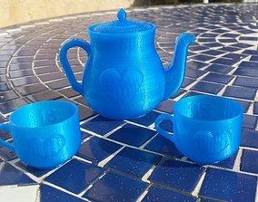 3D printable model Miniature Heart Tea Set