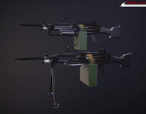 M249 machine gun Lowpoly 3D asset