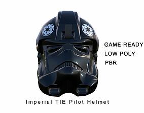 3D model Imperial tie pilot helmet - Star Wars