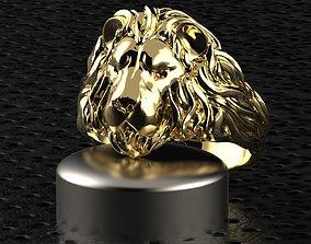 rings modern lion ring 3D print model