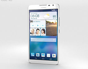 Huawei Ascend Mate 2 4G Pure White 3D