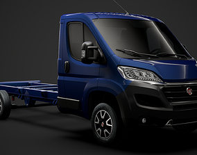 3D Fiat Ducato Chassis Truck Single Cab 4035XL WB 2019