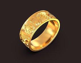 3D printable model Christmas symbols ring Tymoshchuk 2