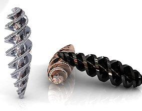 Tornado Twister Drop Charms Pendant 3D print model