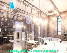 3D Intimate Cafe - Bar - Restaurant Scene - Archicad