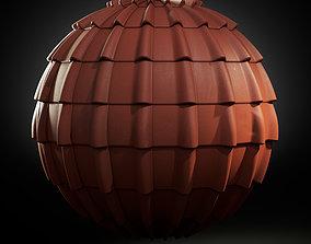 Seamless PBR Scanned European Roof Tiles - 2x Designs 3D