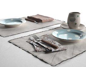 3D model Maya Placemats Tableware