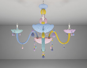 Colorful Crystal Chandelier 3D