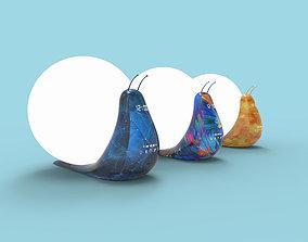 3D Creative snail table lamp