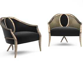 Christopher Guy Cambre Bergere armchair 3D model
