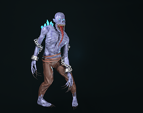 3D model animated zombie stilized