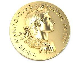 3D printable model Roman coin depicting the emperor