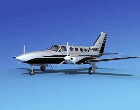 3D model Cessna 414A Chancellor V11