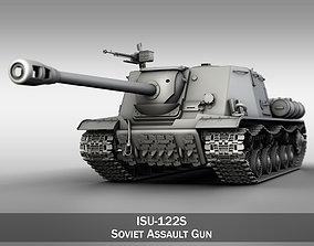 3D model ISU-122S - Soviet Assault Gun