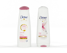 Dove Nutritive Solutions Shampoo and Conditioner 3D model