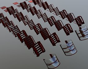 3D asset Sci-Fi pack of stairs 40 models 2