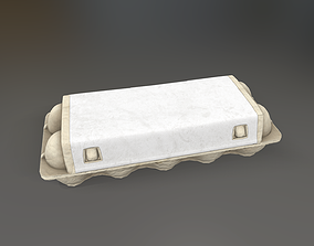 Egg Box 3D model animated game-ready