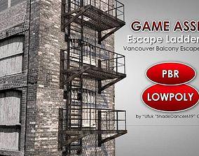 3D model Balcony Fire Escape Ladder