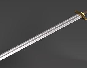 PBR Viking sword 3D asset game-ready