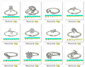 3D print model Collection 38 Women Ring render stl