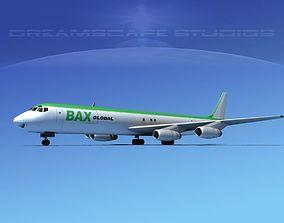 Douglas DC-8-63F BAX Global 3D model