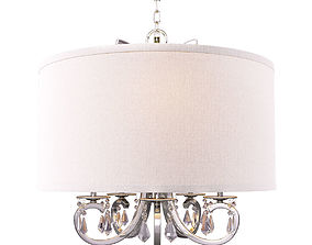 3D Home Decorators Collection 5-Light Polished Nickel