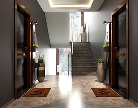 Entrance Hall 3D Model Vray Settings and PSD