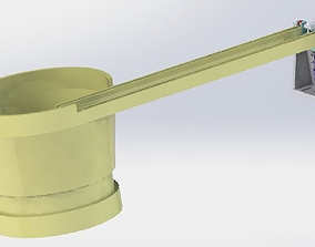 Vibration disc blocking mechanism 3D
