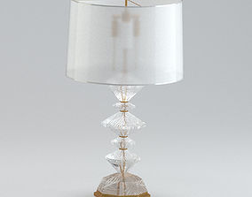 3D White And Light Gold Table Lamp