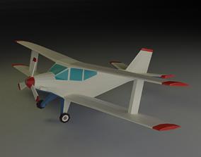 3D model Biplane lowpoly