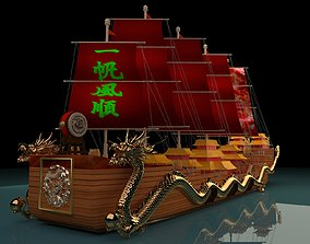 Chinese dragon boat 3D