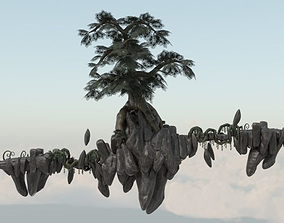 Floating Island 02 3D model